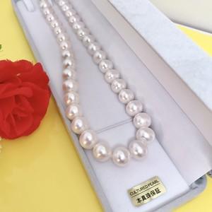 淡水真珠ネックレス10.5-11.5mm ケース付き