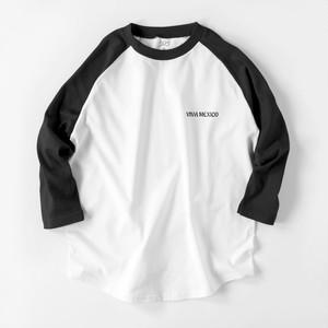 VIVA MEXICO 7分袖 ラグランTシャツ ブラック