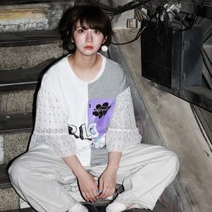 袖フレアーTシャツ(WHITE)Re-405