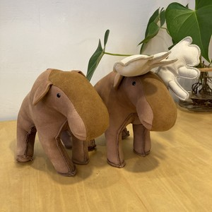 USA / SANDY VOHR'S LEATHER ZOO / Bookend / Male&Female  Moose ヘラジカ 夫妻セット