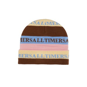 ALLTIMERS / LEWIS BEANIE -SAND/BROWN/BLUE-