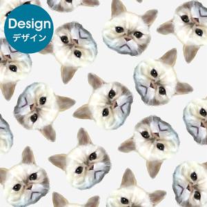 【デザイン】水彩風タッチ★ペット似顔絵総柄★