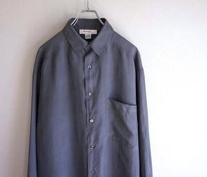 1990's [Lorenzo] シルクシャツ グレー 表記(L)