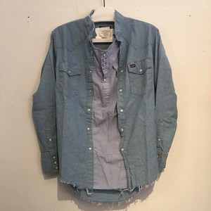 【OLD PARK】PULLOVER SHIRT CHAMBRAY WESTERN OP-85-C (No : 750002)