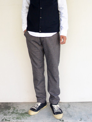KAFIKA(カフィカ) THERMOLITE HOUNDETOOTH TROUERS NAVY CHECK