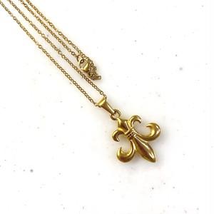 316L Fleur de lis charm necklace 【GOLD】