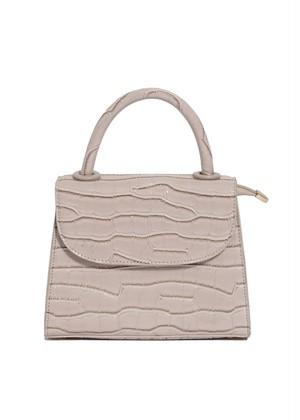 croco leather mini bag(beige) 3/25ch-3