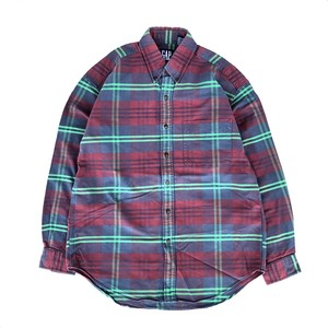 """USED 90's """"OLD GAP"""" check shirts - red,green"""