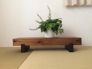 【セール開催】どっしり木製ローテーブル☆無垢材☆飾り台☆花台☆テレビ