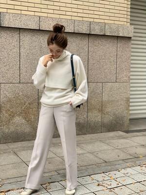 【予約】wide straight pants / light gray  (ご注文から約3週間での配送)