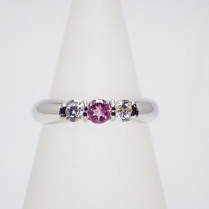 ❤︎【ピンクトルマリン×ダイヤモンド】 ≪シルバー925≫天然石リング 指輪❤︎