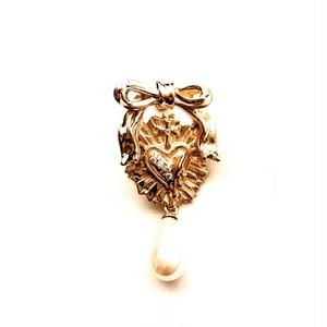 <8月お届け>セイクリッドブラッドハートピアス(18k gold plated)<予約>