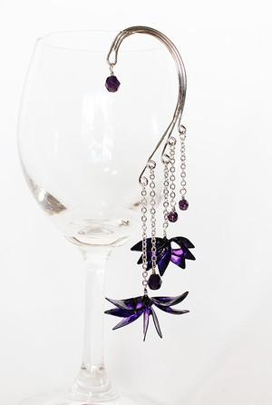 ディップイヤーフック *菱、銀紫水晶。