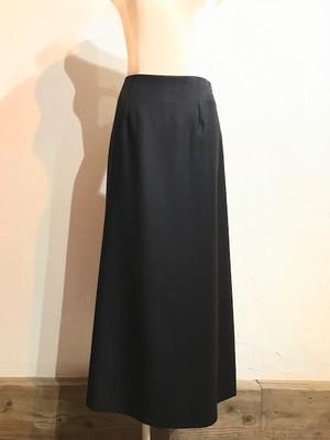 ウールジョーゼットロングスカート