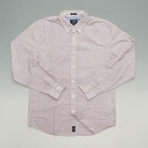 Abercrombie&Fitch アバクロンビー&フィッチ ピンストライプ ボタンダウンシャツ ストレッチ 裾クラシックロゴ