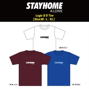 【STAY HOME ALONE】Logo S/S Tee