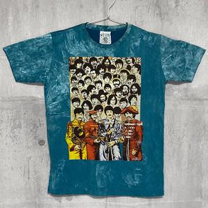 【送料無料 / ロック バンド Tシャツ】 THE BEATLES / Stone Wash Men's T-shirts Turquoise Blue M ザ・ビートルズ / ストーンウォッシュ メンズ Tシャツ ターコイズブルー M