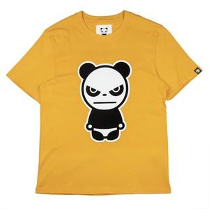 【HIPANDA 】メンズ Tシャツ【NEW】MEN'S  FLOCKY PRINT SHORT SLEEVED T-SHIRT / ORANGE
