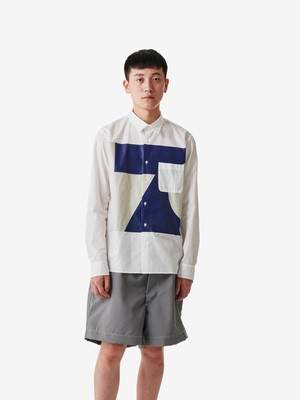 ALOYE / Color Blocks Long Sleeve Shirt