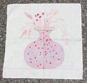 花瓶ハンカチーフ