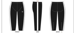 【限定受注生産】KYUS ラインウィンドブレーカー パンツ(zip付き)