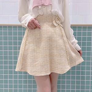 パールバックルツィードフレアスカート