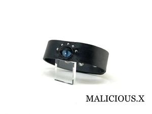 cat eye belt choker / smoke blue