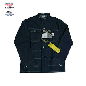 "Pointer Brand Clothing ""Indigo Denim Chore Coat - RAWdenim Conemills White Oak Denim - Banded Collar"