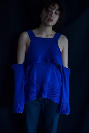 YUKISHIMANE fallen knit top