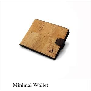 VEGAN MINIMAL WALLET  NATURAL / 二つ折り財布 ナチュラル&ブラウン コルク製