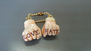 LOVE&HATE key chain