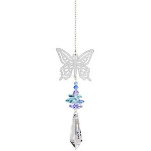 サンキャッチャー(オーストリア製・クリスタル) <蝶(ちょう)> 変容と幸運のモチーフ