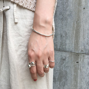 Silver925 rounded bangle 0044