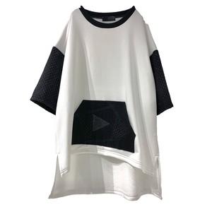 Slit-T-shirts PW (white/black)