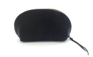 Yezo deer soft pouch tanned black