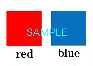 Colors 絵+英単語 フラッシュカードデータ(カラー)