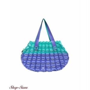 インフラットデコ/inflat Decor シェルスタイルバッグS (グリーン×ブルー)