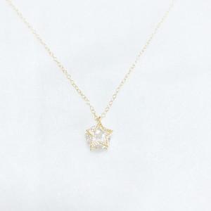 ミル打ち☆星のネックレス