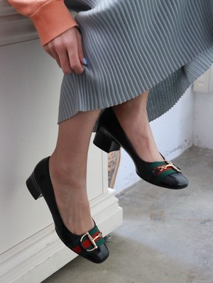 GUCCI sherry line black shoes