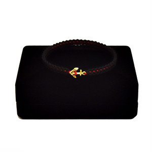 【2020SS 期間限定カラー】K18 Gold Anchor Bracelet / Anklet  Black×Red【品番 17S2010】