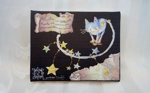 猫のエミリー☆星のダンス(アートキャンバスパネル)