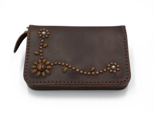 6inch STUDS WALLET (TRIBAL FLOWER)