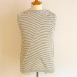 Knit & Sewn Crew Neck Vest Grage