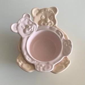 【made in korea♡】bear bowl Jr. 9colors / ベア ボウル ジュニア クマ 皿 プレート トレー テディベア 韓国雑貨 韓国製