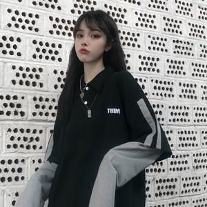 【トップス】カジュアルpoloネック配色Tシャツ25990904