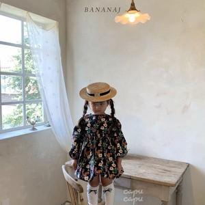 «予約»«ジュニアサイズあり» banana j flower balloon one piece フラワーバルーンワンピース