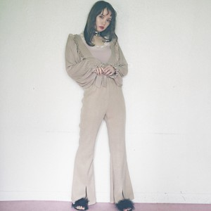 slit knit long pants (AP31SS009)