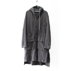【VITAL】Hoodie Long Coat  (GREY)