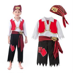 3109ハロウィン 仮装 子供 コスプレ衣装 コスチューム キッズ ハロウィーンHalloween 男の子 海賊 身長80-120cm