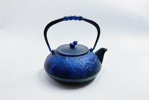 南部鉄器 鉄瓶 ひさご 瑠璃色 0.5L